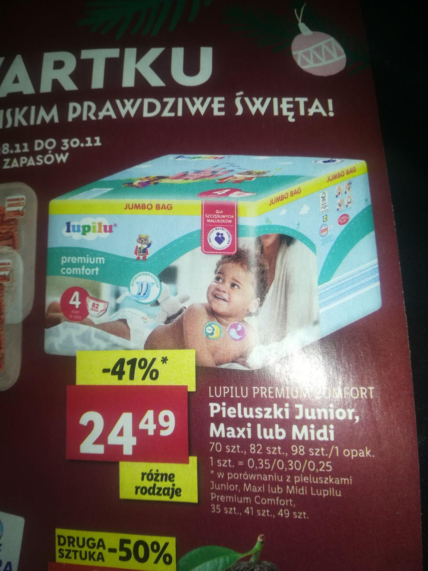 Pieluchy Lupilu Premium Comfort Lidl Jumbo Bag od 28.11