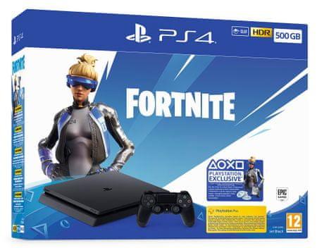SONY konsola PlayStation 4 Slim - 500 GB + pakiet dodatków do gry Fortnite
