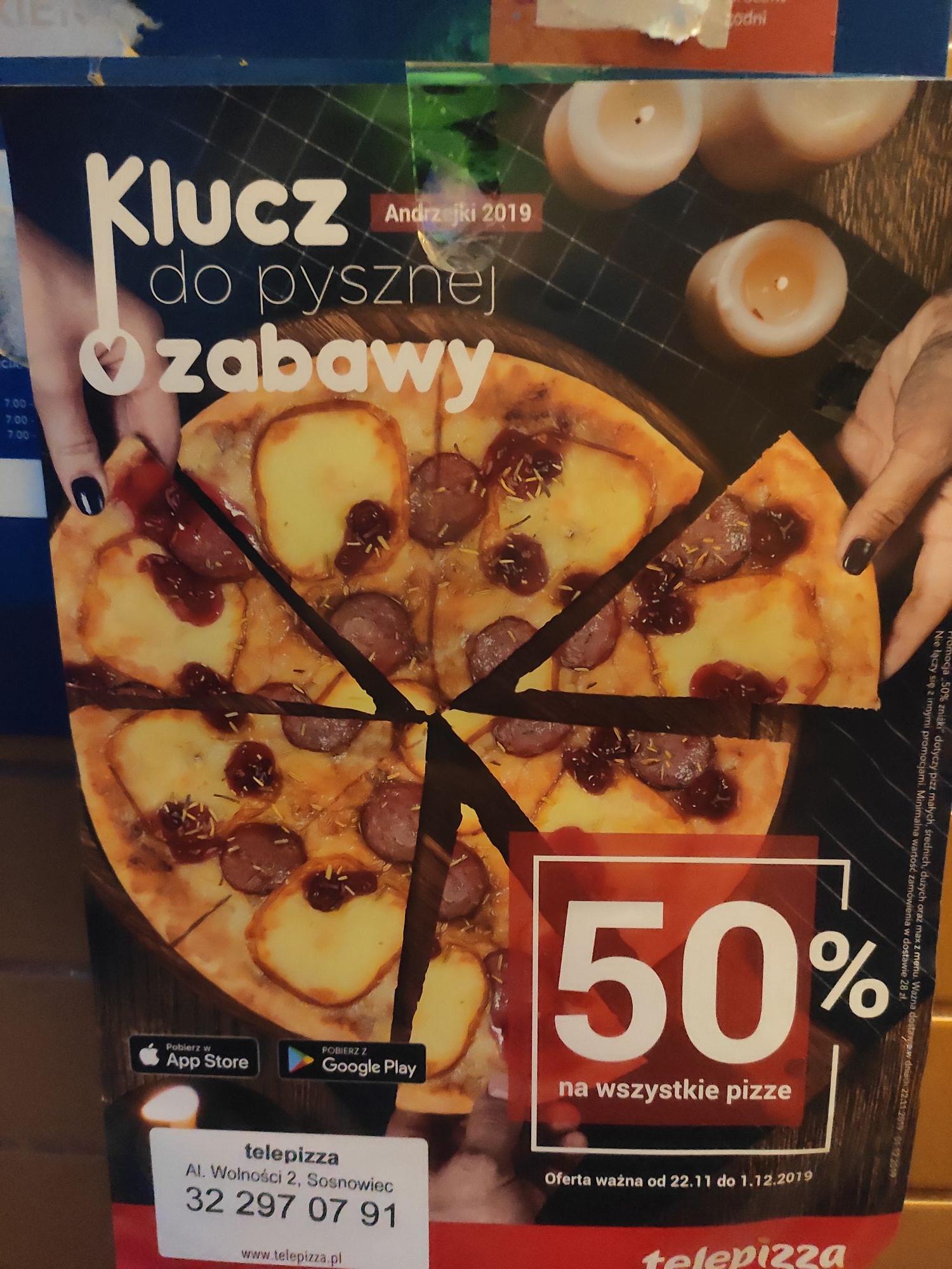 Telepizza -50% na wszystkie pizze