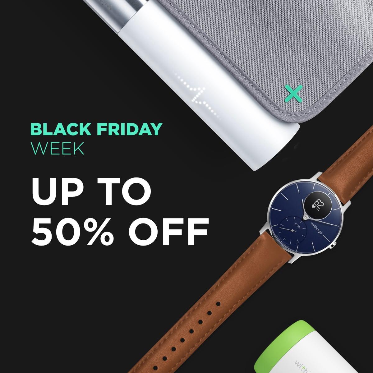 Withings Black Friday week do -50% i darmowa dostawa