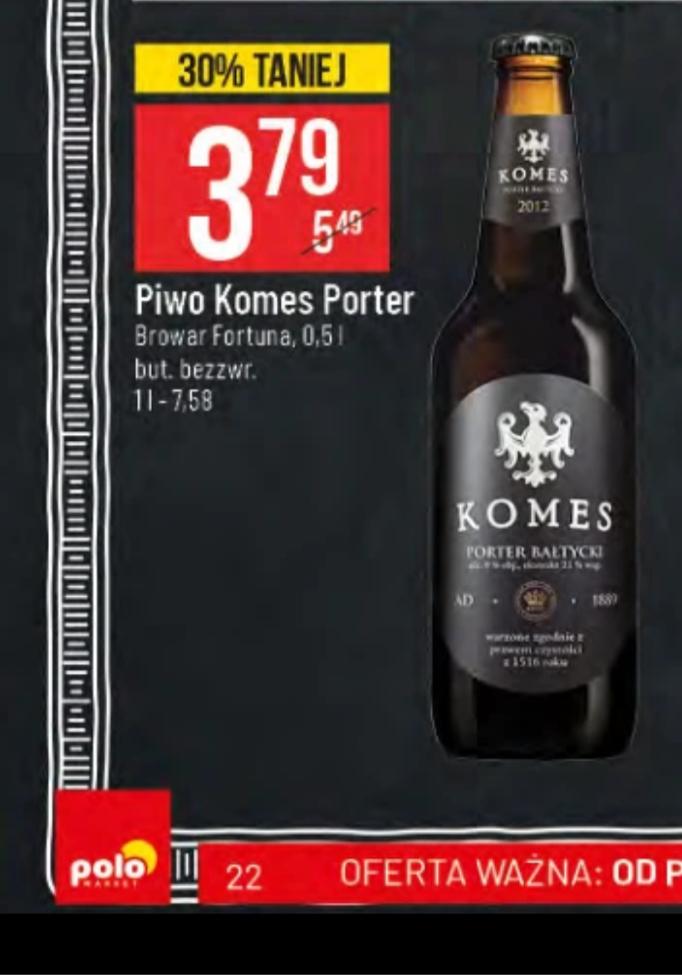 Piwo Komes Porter Bałtycki
