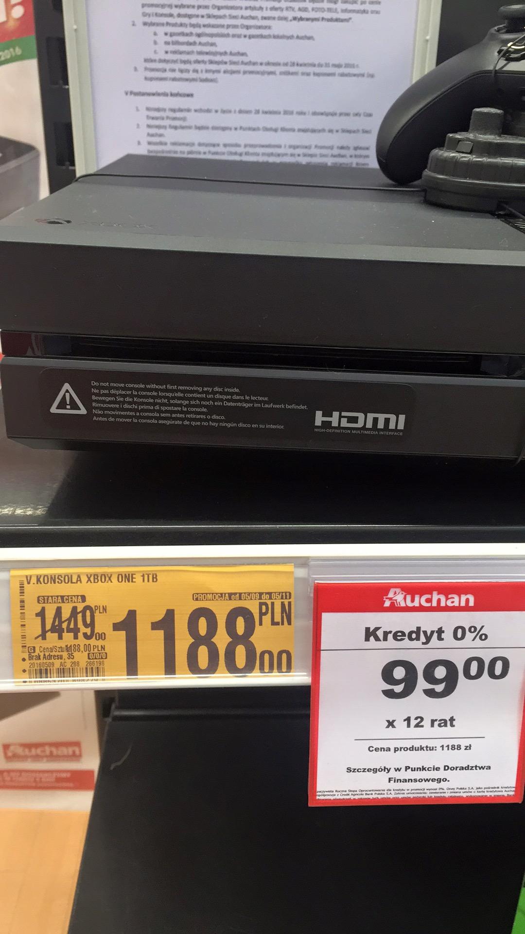 Xbox one 1TB @ Auchan