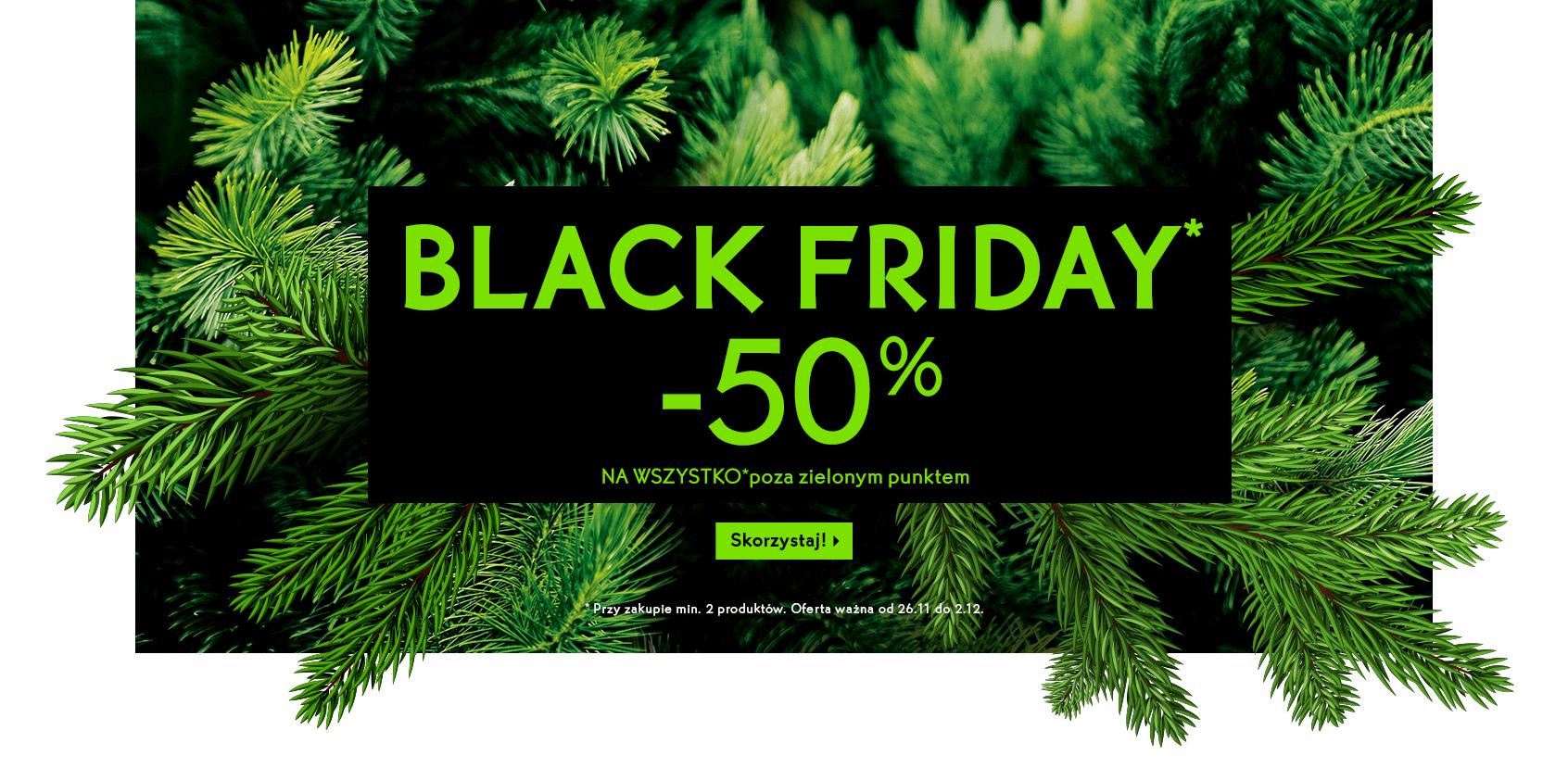 Black Friday w Yves Rocher -50% na min. 2 kosmetyki (prócz tych oznaczonych zielonym punktem)