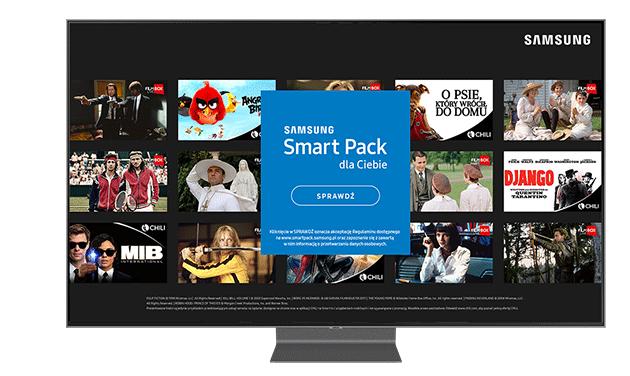 30zł do CHILI lub FilmBox Live na miesiąc w aplikacji Samsung Smart Pack