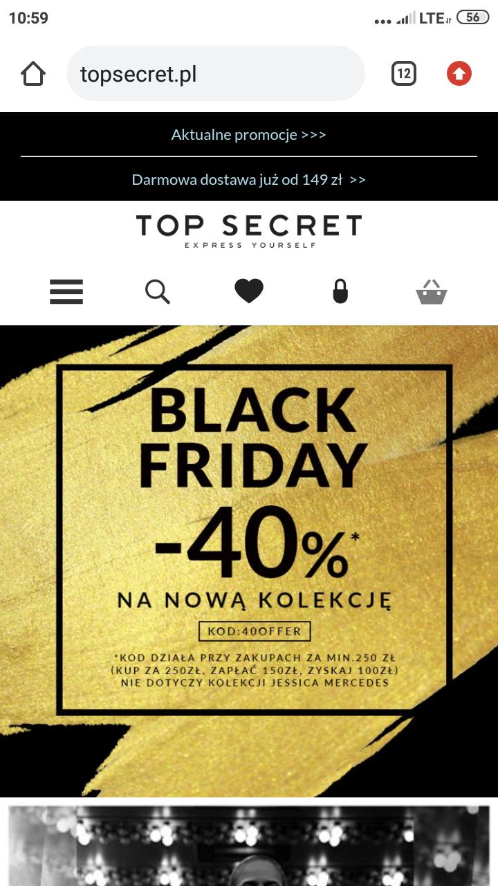 Top Secret - 40% na nowa Kolekcje