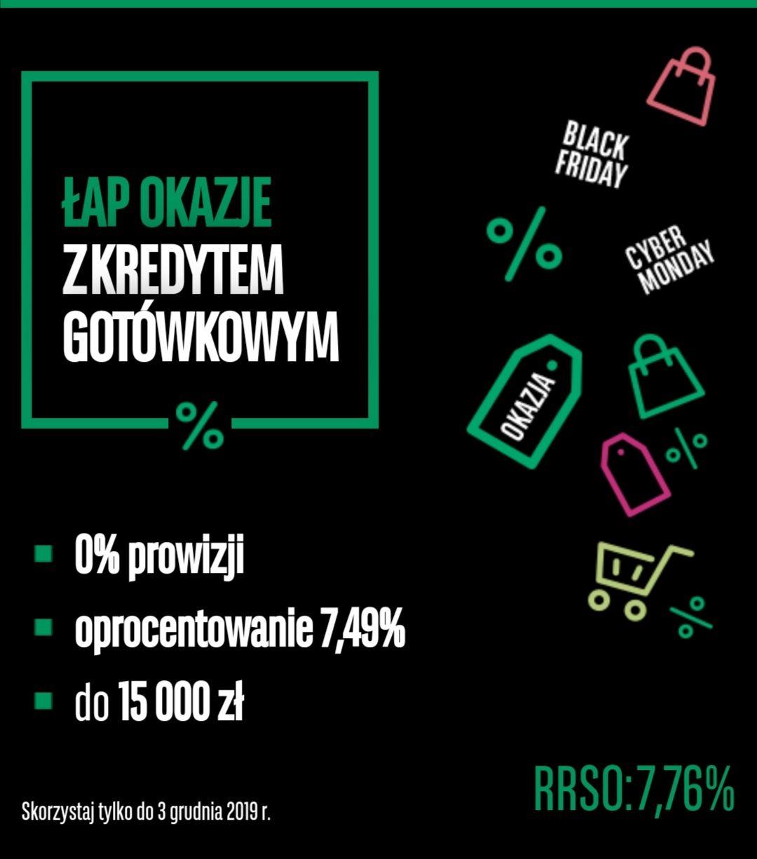 Kredyt gotówkowy RRSO 7.76 %