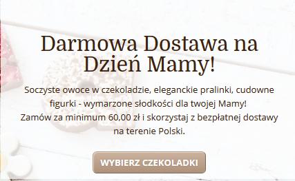 Darmowa dostawa do zamówień od 60zł @ Chocolissimo