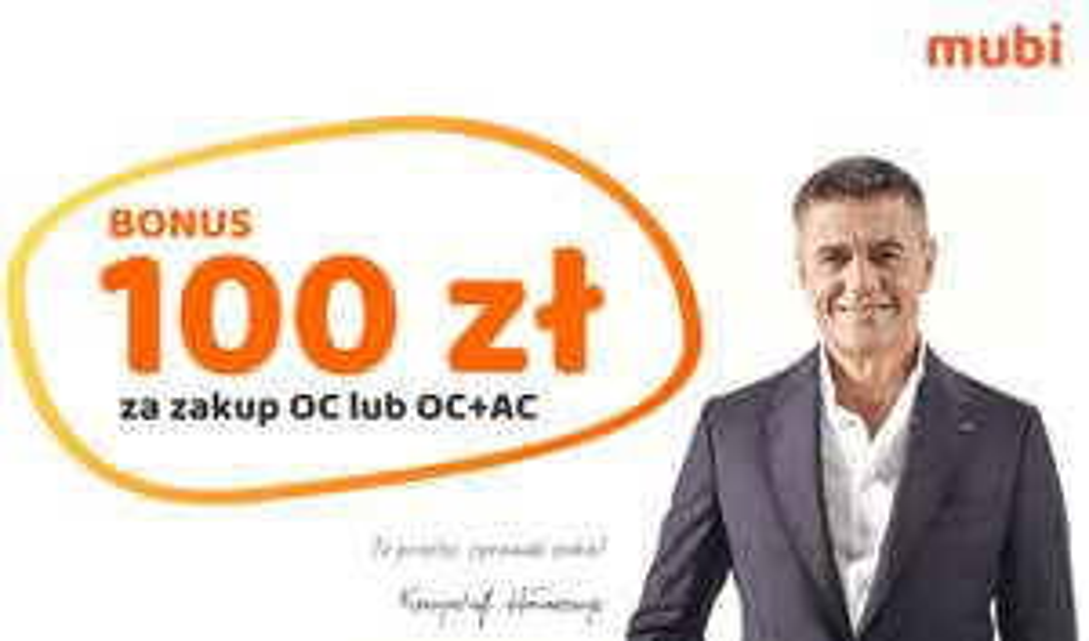 100zł za zakup ubezpieczenia samochodu (OC lub pakietu OC+AC) @ Mubi