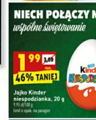 Kinder jajko w biedronka od 28.11
