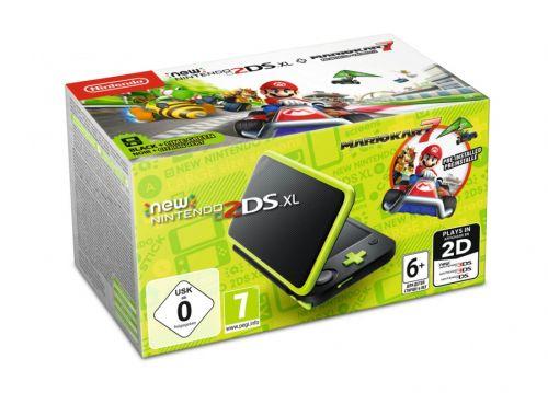 Konsola New Nintendo 2DS XL Black & Lime + Mario Kart 7 (3DS)