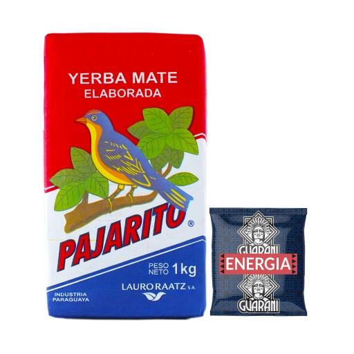 Yerba Mate Pajarito 1kg + Guarani Energia 50g