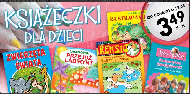 Książeczki dla dzieci po 3,49zł (Tuwim, Brzechwa, Fredro, Jachowicz) @ Biedronka