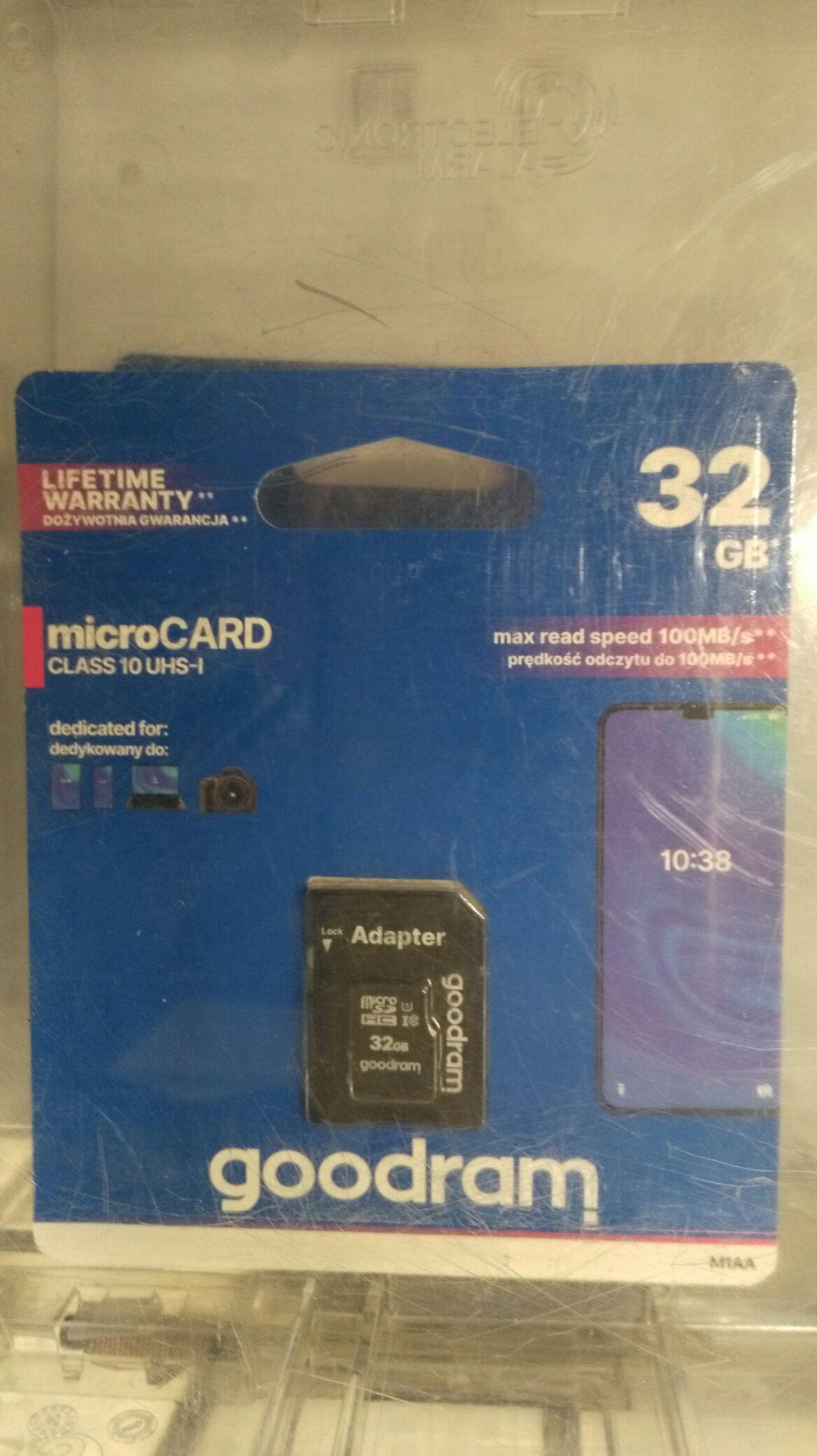 Karta goodram 32GB microSDHC class 10 UHS I + adapter w auchan