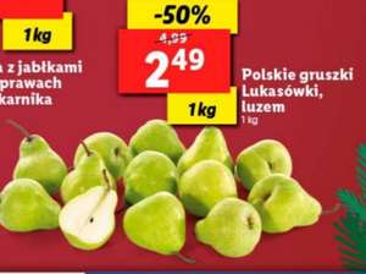 Gruszki lukasówki w Lidl za 2,49zl