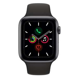 Apple Watch 5 44mm GPS (Space Grey + czarny silikon)