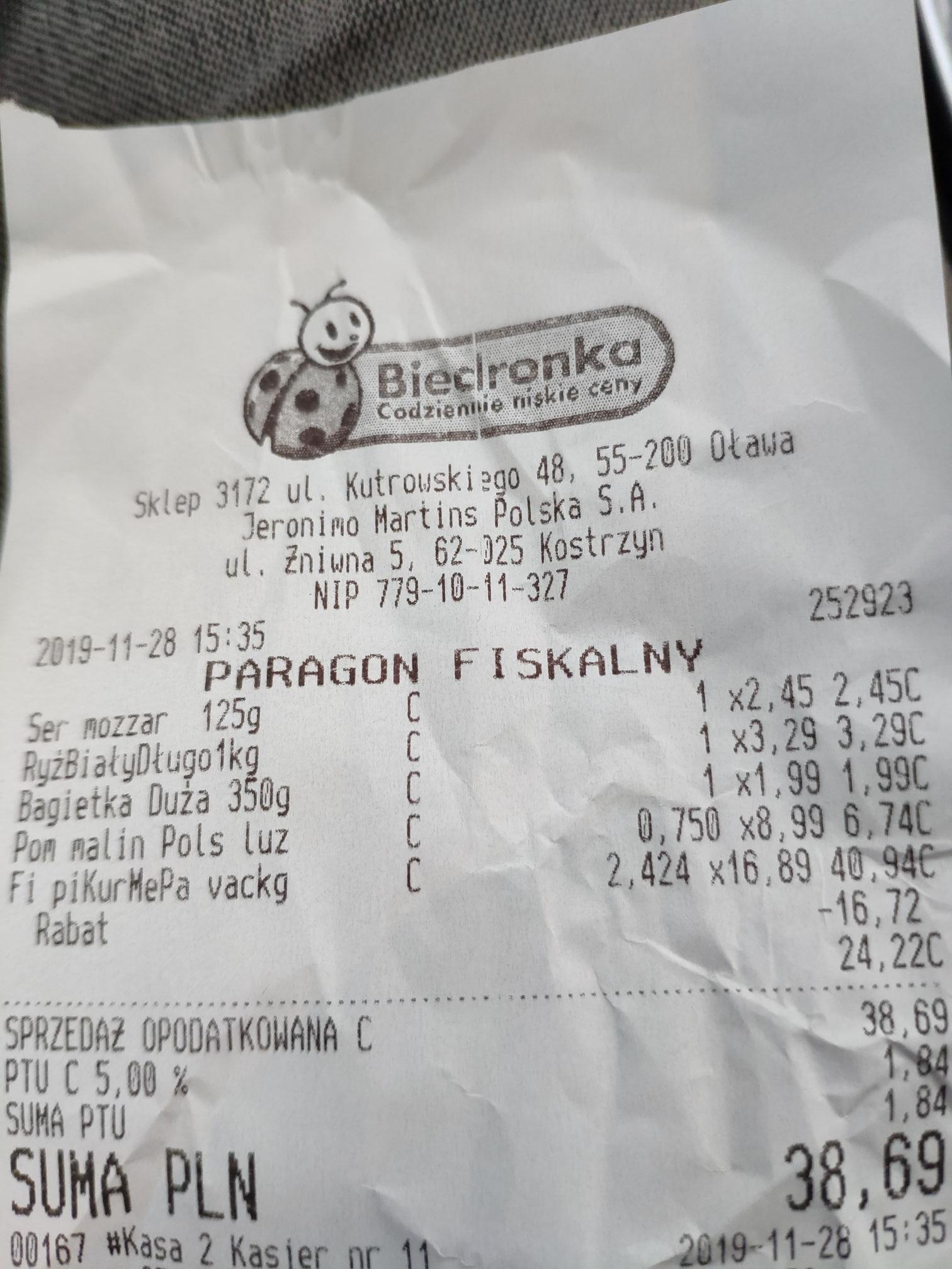 Pierś z kurczaka 9.99 za kg z kartą Moja Biedronka