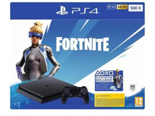 KONSOLA SONY PlayStation 4 Slim 500 GB + Fortnite