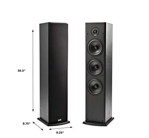 Polk Audio T50 głośniki podłogowe stojące, czarne, cena za sztukę
