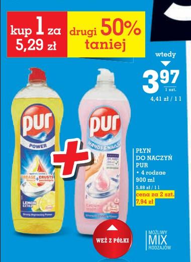 Tanie mycie naczyń Pur albo Fairy