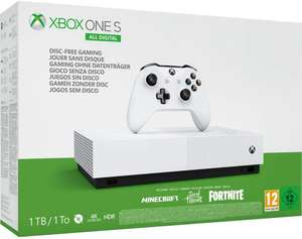 Xbox One S 1TB All Digital Edition + Minecraft, Sea of Thieves, Fortnite-Skin und 2,000 V-Bucks