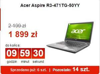 Acer Aspire R3-471TG-50YY zostało 14 sztuk