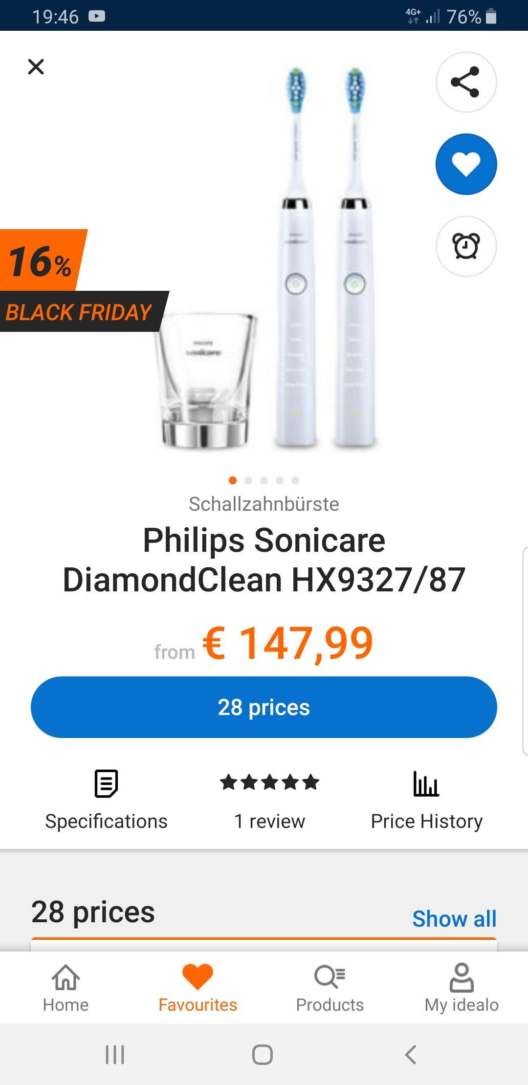 Philips Sonicare DiamondClean HX9327/87 EUR 152,96