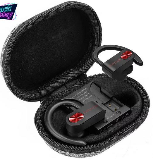 BlitzWolf® AIRAUX AA-UM2 TWS bluetooth 5.0 Ear Hook Earphone Stereo słuchawki sportowe z etui ładującym