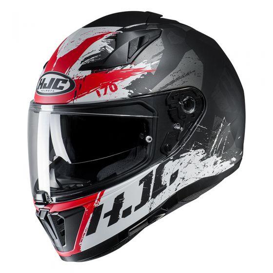 Kask motocyklowy integralny HJC i70 Rias - czarno/czerwony