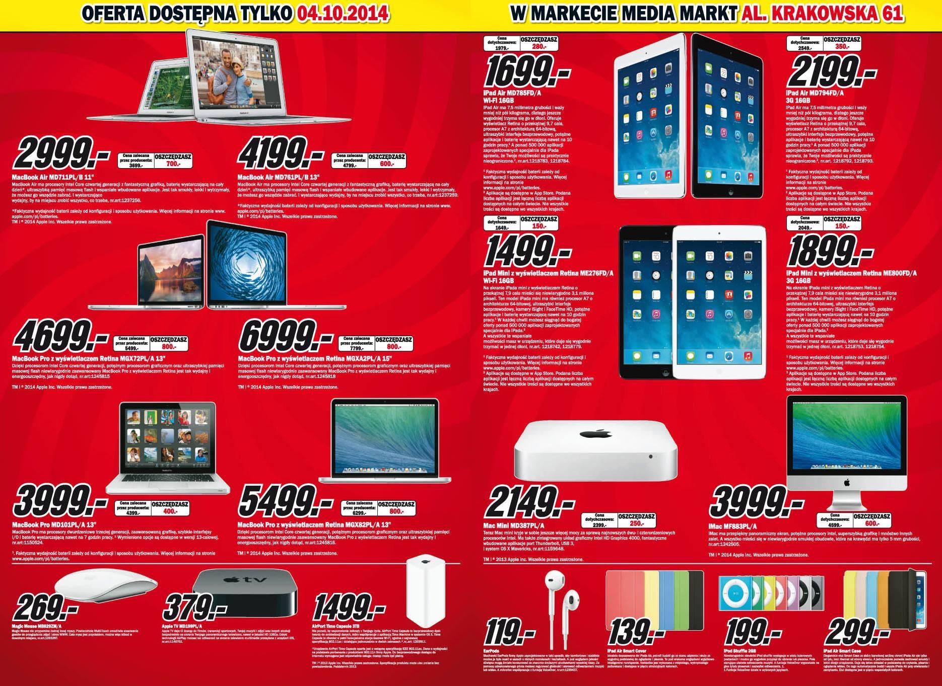 Produkty Apple w dobrej cenie