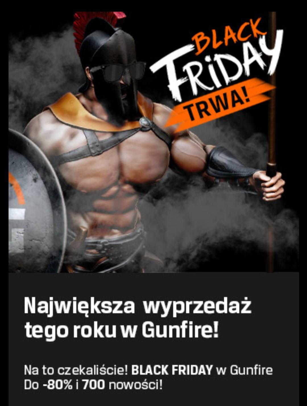 Okazje Black Friday w Gunfire