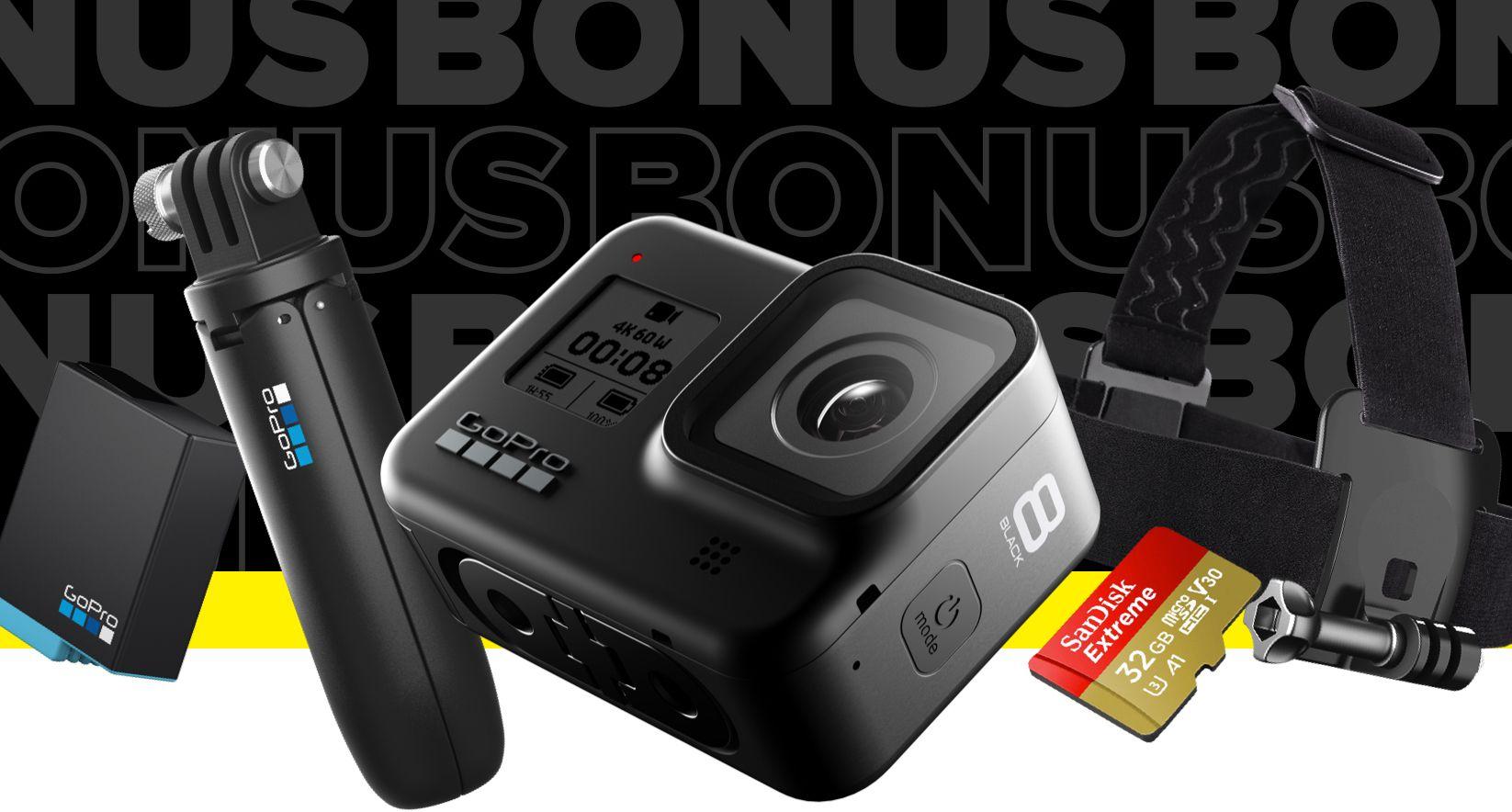 Kamera sportowa GOPRO HERO8 Black + zestaw akcesoriów (GoPro.com)