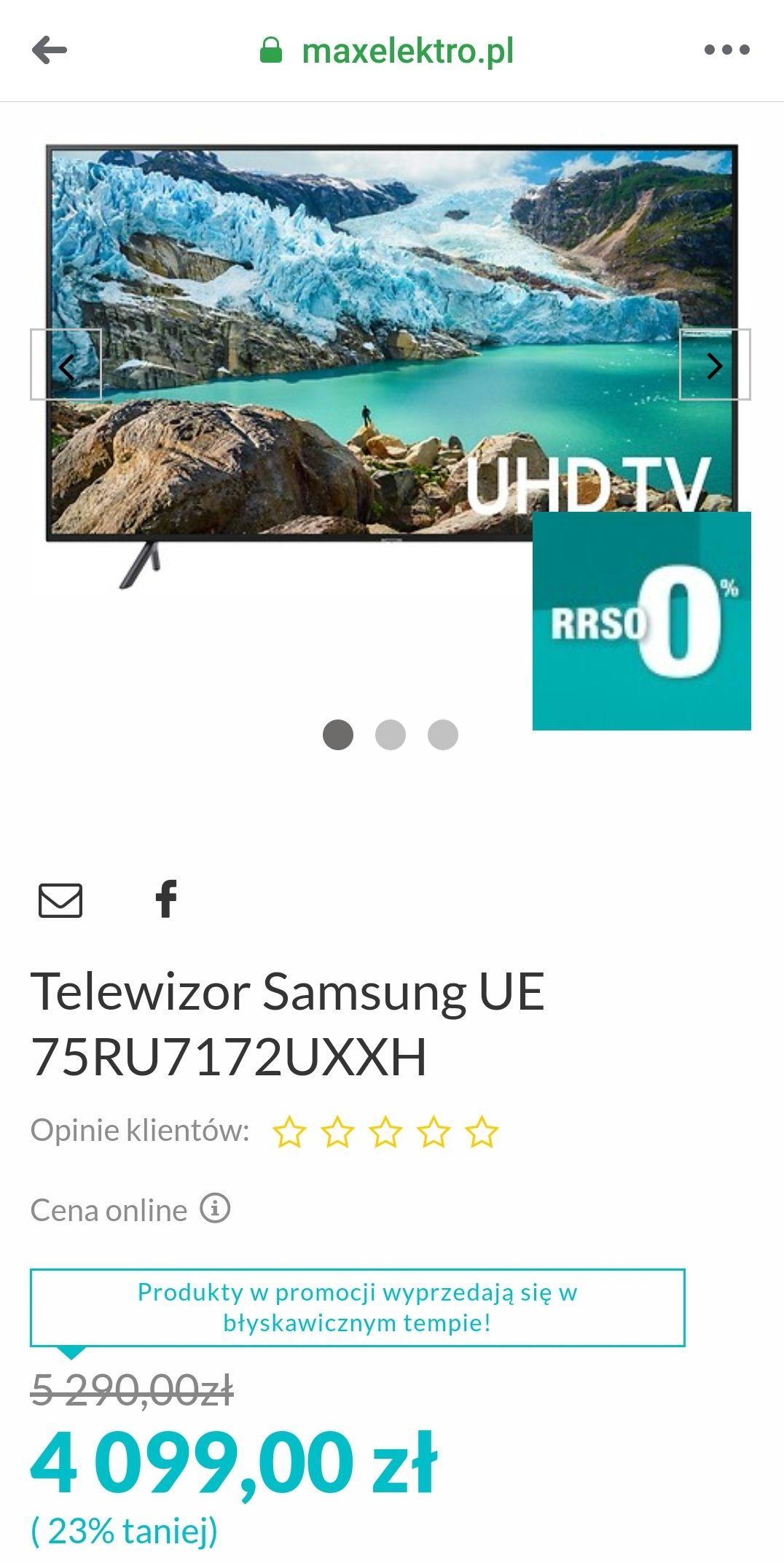 Telewizor Samsung UE 75RU7172UXXH