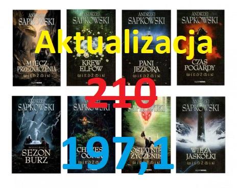 AKTUALIZACJA Wiedźmin - Sapkowski - tomy 1-8 197,1 zł