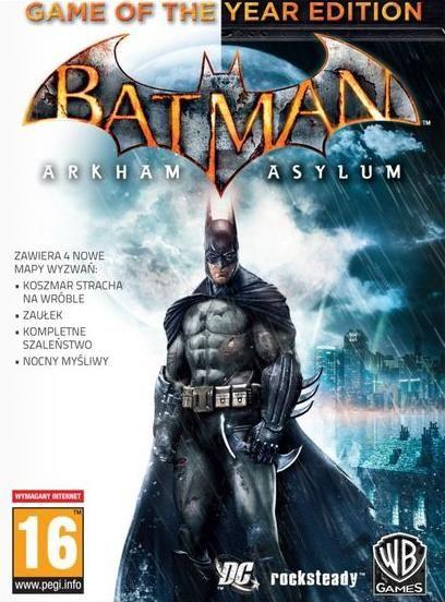 BATMAN ARKHAM ASYLUM GAME OF THE YEAR EDITION KLUCZ PC/Steam