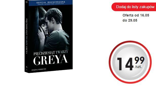 Pięćdziesiąt twarzy Greya na DVD za 14,99zł (+ inne fimy) @ Biedronka