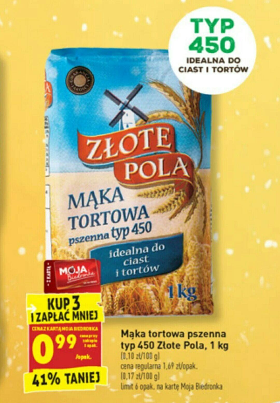 Biedronka, mąka za 0,99gr/szt przy zakupie 3