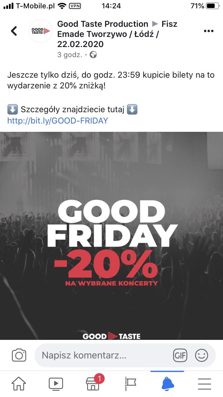 Eventim -20% na bilety do końca dnia