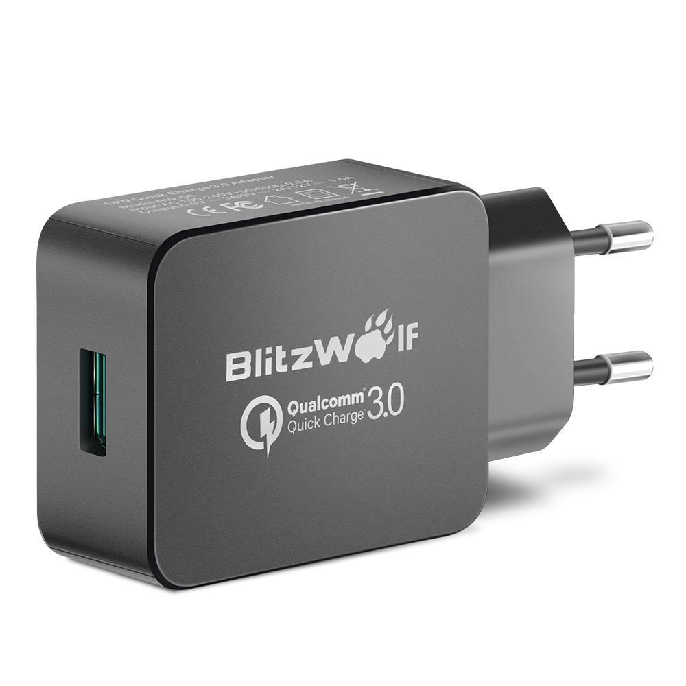 Ładowarka oraz kabel USB BlitzWolf® BW-S5 QC3.0 18W Adapter UE + BW-TC14 3A USB Type-C Kabel do ładowania danych 3ft / 0,91m