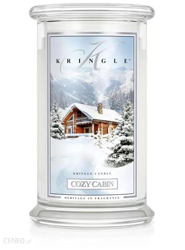 Kringle Candle Cozy Cabin - duży, klasyczny słoik z 2 knotami 623 g