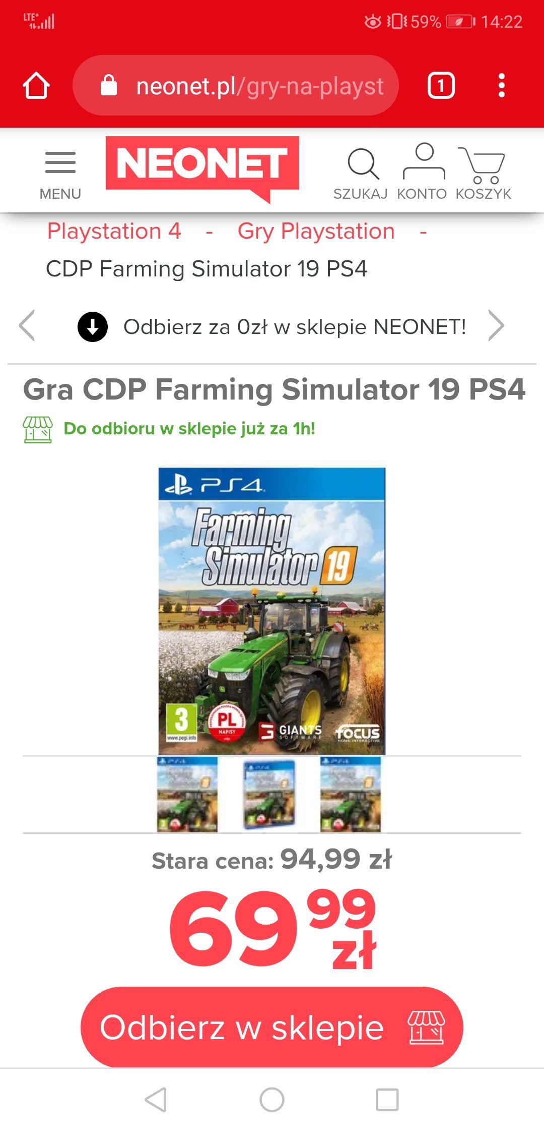 Farming Simulator 19 PS4 wersja pudełkowa cena niższa niż używane na olx
