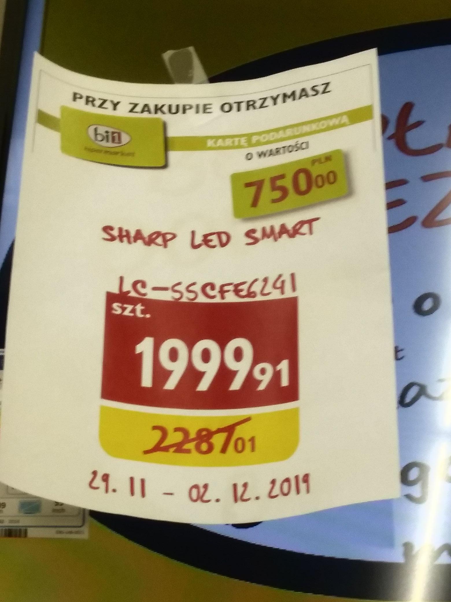 Telewizor sharp smart 55 cali. Lc-55cfe6241 (+750zł na karcie podarunkowej) Hipermarket bi1 BIAŁYSTOK