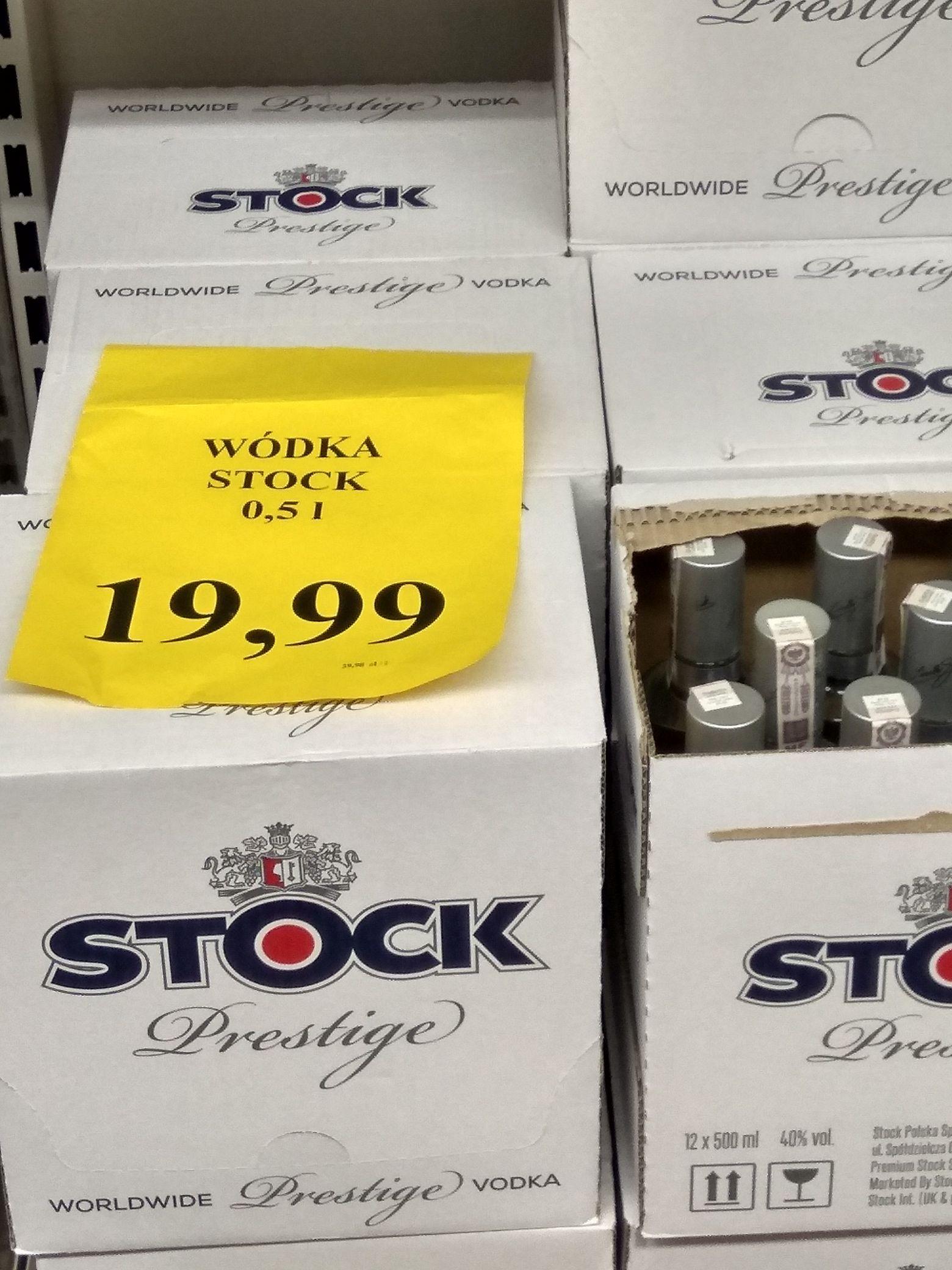 Wódka STOCK PRESTIGE 19.99 za 0.5L sklep Orzech