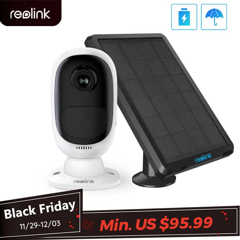 Bezprzewodowa kamera zewnętrzna REOLINK z panelem solarnym $95.99