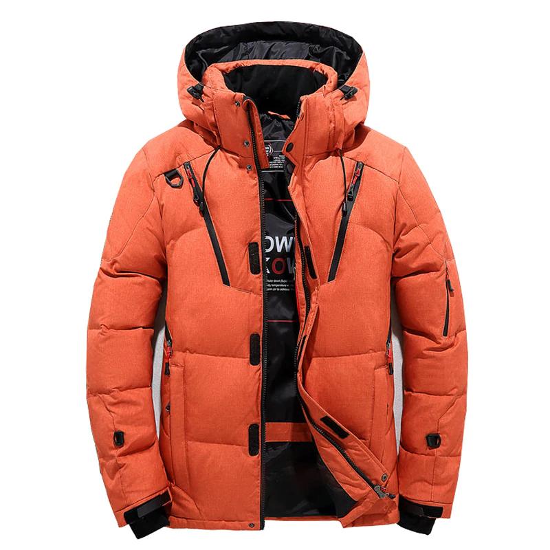Gruba ciepła kurtka zimowa męska z kapturem 1,26$