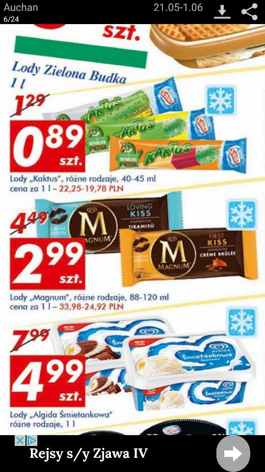 Lody Magnum - Auchan