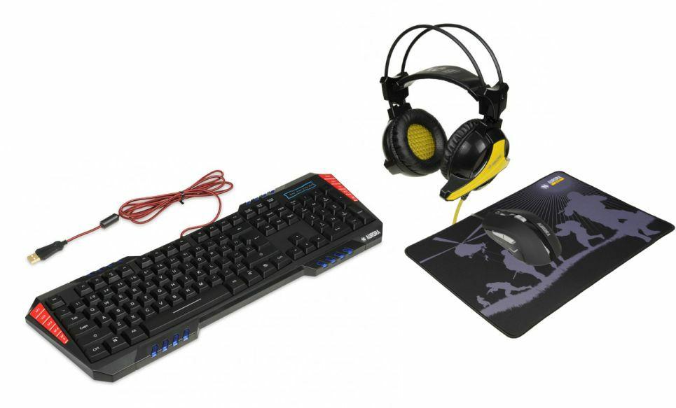 Zestaw iBox - klawiatura+mysz+podkładka+słuchawki