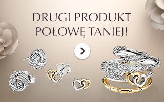 Drugie produkt 50% taniej (kolczyki oraz pierścionki) @ Pandora