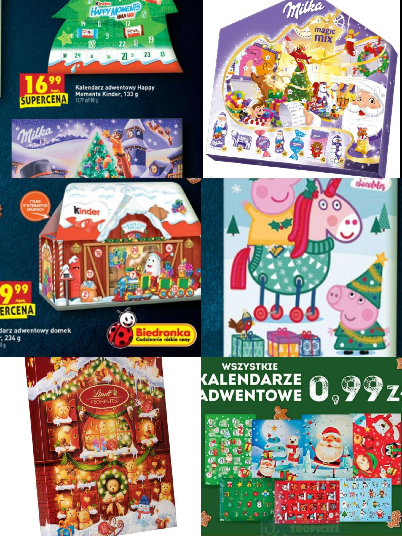 Wszystkie kalendarze adwentowe za 0.99 zł @biedronka