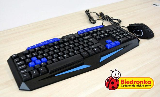 Zestaw dla gracza: klawiatura + mysz COMBAT FX-ONE @Biedronka