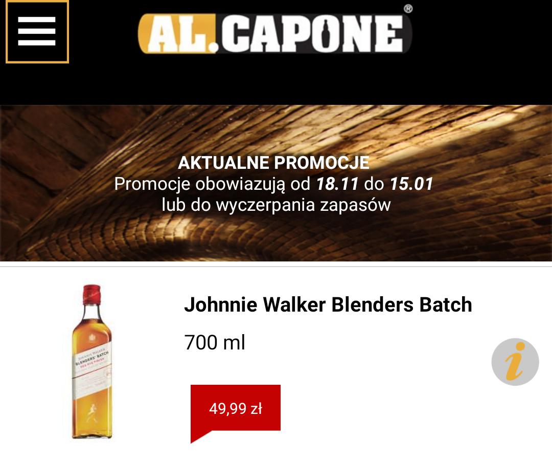 Johnnie Walker Blender's Batch Red Rye Finish 0,7l